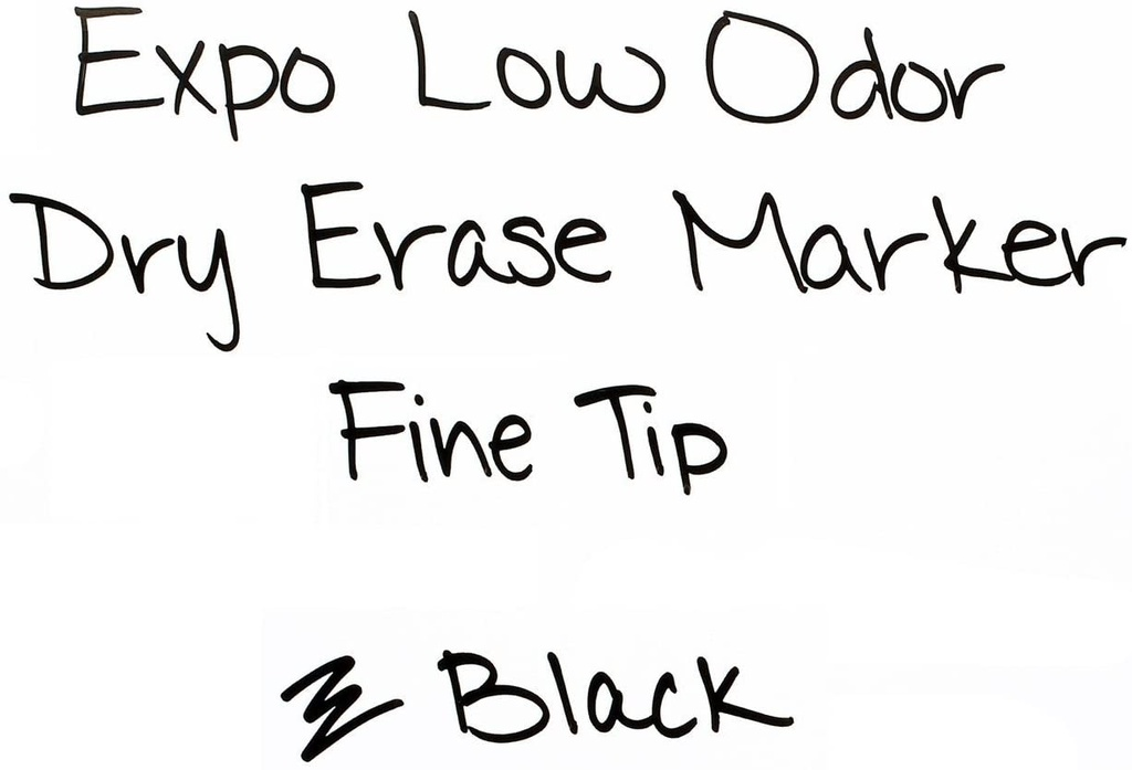 36ct Black Expo Low Odor Fine Dry Erase Markers