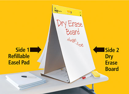 20in x 23in Dry Erase Table Top Easel Pad