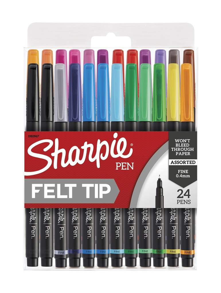 24ct Fine Sharpie Art Pens in Hard Case