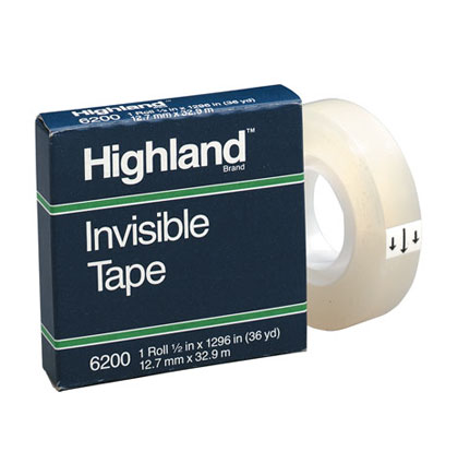 "1/2"" Highland Invisible Tape Roll"
