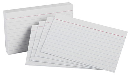 100ct 4x6 White Ruled Index Cards Pack