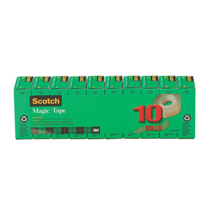 "10ct 3/4"" x 1000"" Scotch Magic Tape Pack"