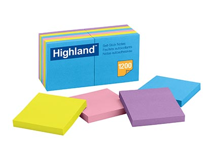 12ct 3 x 3 Highland Bright Note Pads