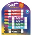 12ct Expo Low Odor Vibrant Dry Erase Markers