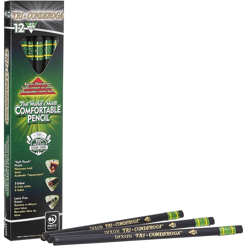 12ct No 2 Tri-Conderoga Pencils with Sharpener
