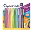12ct Paper Mate Medium Flair Tropical Colors Pens