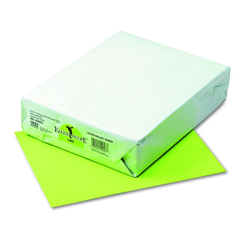 500ct 8.5x11 Lime Multi Purpose Paper