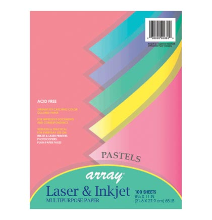 100ct 8.5x11 Array Pastels Multipurpose Paper