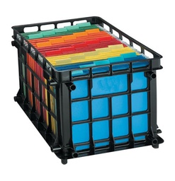 [27570 ESS] Oxford Black File Crate for Letter or Legal Each
