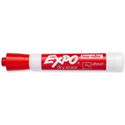 [80002 SAN] Red Chisel Tip Expo Low Odor Dry Erase Marker   Each