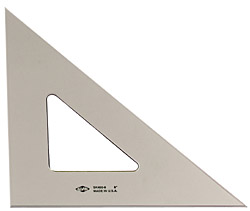 [SK45010 ALV] 10 inch 45/90 Degree Tinted Acrylic Triangle Each