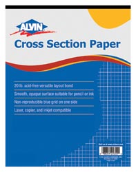 "[14222 ALV] 8.5""X 11"" 4X4 Cross Section Paper 50sht Pad"