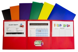 [33940 CL] 24ct Tri-Fold Poly Pocket Folders Assorted Colors