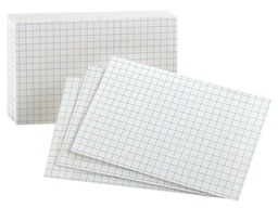 [02035EE ESS] 100ct Oxford Graph Index Cards