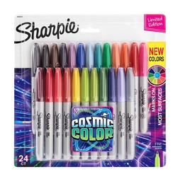 [2033573 SAN] 24ct Sharpie Cosmic Color Fine Point Permanent Markers