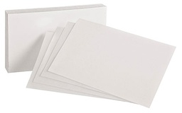 [40EE ESS] 100ct 4x6 White Blank Index Cards