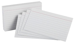[51EE ESS] 100ct 5x8 White Ruled Index Cards Pack