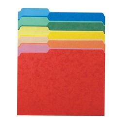 [15213ASST ESS] 100ct Third Cut Assorted Color File Folders Box