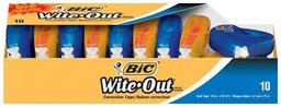 [WOTAP10 BIC] 10ct Wite Out EZcorrect Correction Tape
