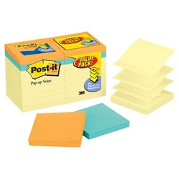 [R330144B MMM] 18ct 3x3 Post It Pop up Notes