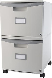 [61301B01C STX] 2 Drawer Mobile File Cabinet with Lock Putty