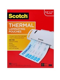 [TP3854200 MMM] 200ct Letter Size Scotch Thermal Laminating Pouches