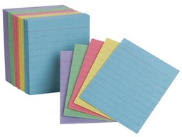 [10010 ESS] 200ct Ruled Assorted Color Mini Index Cards