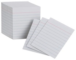 [10009 ESS] 200ct Ruled White Mini Index Cards