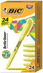 [BL241YEL BIC] 24ct Yellow Bic Brite Liner Highlighters