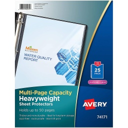 [74171 AVE] 25ct Multi Page Capacity Sheet Protectors
