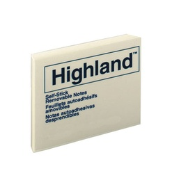 [6549 MMM] 3 X 3 Highland Yellow Note Pad          Each