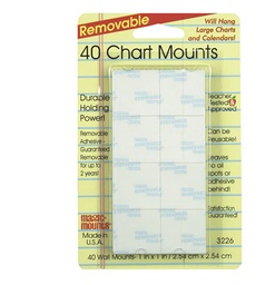 "[3226 MIL] 40ct 1"" Removable Chart Mounts Pack"
