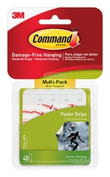 [1702448ES MMM] 48ct Command Adhesives Poster Strips Pack