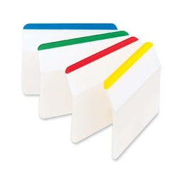 [686A1 MMM] Assorted Colors Post it Durable Lined Tabs