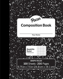 [MMK37103 PAC] Black Marble Graph Composition Book