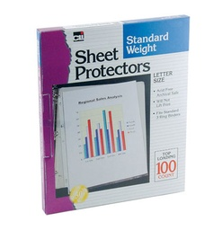 [48241 CLI] 100ct Clear Sheet Protectors