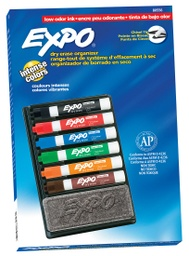 [80556 SAN] Expo Low Odor Organizer with Chisel Tip Dry Erase Markers Each