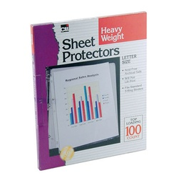 [48341 CLI] 100ct Heavy Weight Clear Sheet Protectors